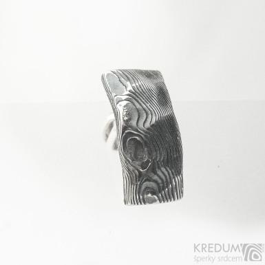 Kovaná pánská náušnice z nerez oceli damasteel - Moonman Natura 1ks - SK 3731