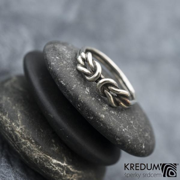Gemini Silver Patina - Stříbrný prsten - ilustrační foto