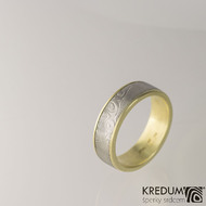 Zlatý snubní prsten - Kasiopea yellow - dřevo, velikost 59,5