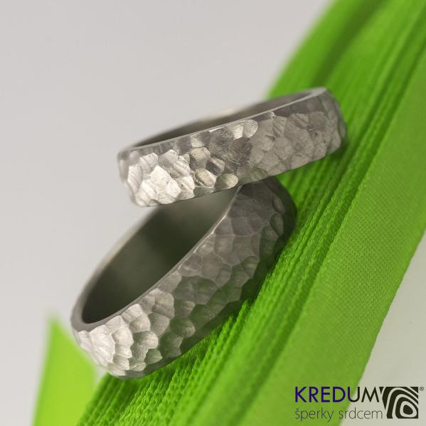 Prsten kovaný - Marro titan, profil B