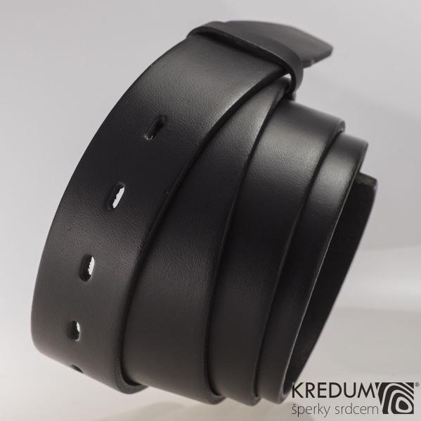 Kožený pásek 3,5X  - barva černá