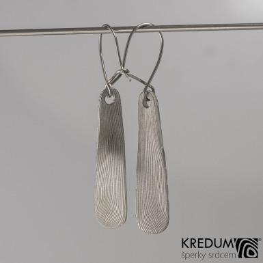 Kované damasteel náušnice - Naevo, produkt číslo S2020