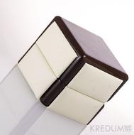 Dřevěná krabička s koženkou - Block image single