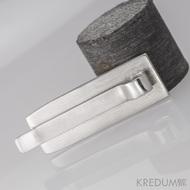 Kovaná spona na kravatu damasteel - Masiv