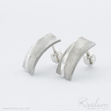 Moon Collium - kované damasteel náušnice - SK3956