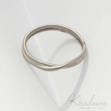 Bend gold whihe - zlatý snubní prsten