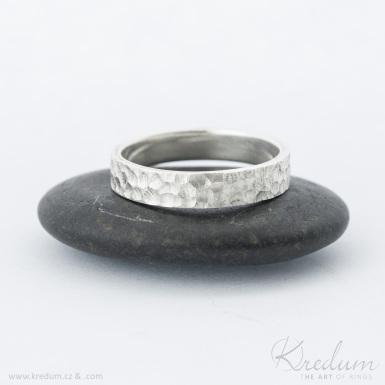 Marro silver - stříbrný snubní prsten - SK4058