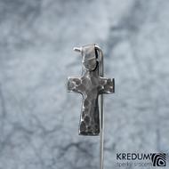 Křížek kovaný tmavý - nerezová ocel