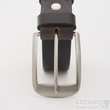 František - Broušená nerezová spona a kožený pásek, SK2593 (2)