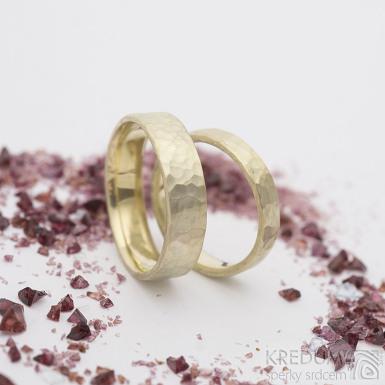 Natura gold yellow - zlatý snubní prsten