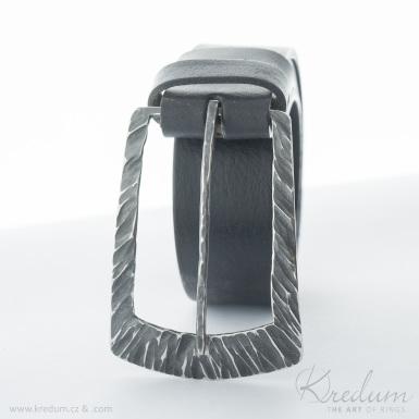 Kovaná nerez spona - Patrem 3,5X - Kant + kožený pásek 3,5X - SK4136