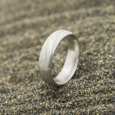 Kasiopea Steel, voda světlá - 53 CF, šířka 5,1 mm, tloušťka 1,6 mm - Kovaný snubní prsten, SK2980 (4)