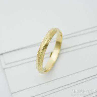 Klas gold yellow - zlatý snubní prsten