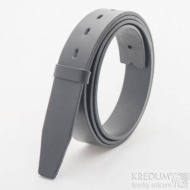 Kožený pásek 3,5X 135 cm - barva černá