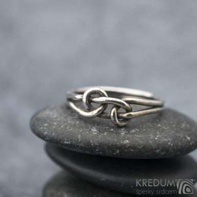 Loop Silver Patina - Stříbrný prsten, SK1569