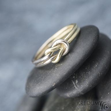 Marge duo - zlatý snubní prsten