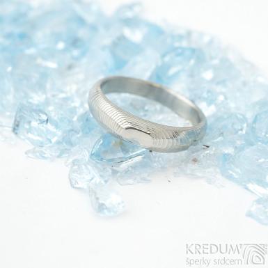 miniAlane pro kámen - vel 52,5, šířka hlavy 4,3 mm dlaň 3 mm, tloušťka hlavy 2,8 mm dlaň 1,4 mm - Damasteel prsteny - sk1651