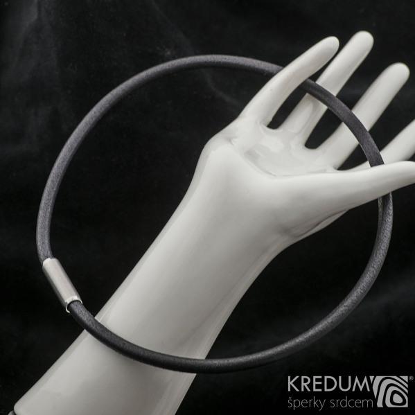 Kožený náhrdelník - Samuel černý - jemný mat
