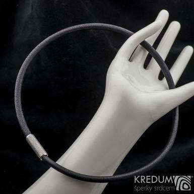 Kožený náhrdelník - Samuel černý - hrubý mat