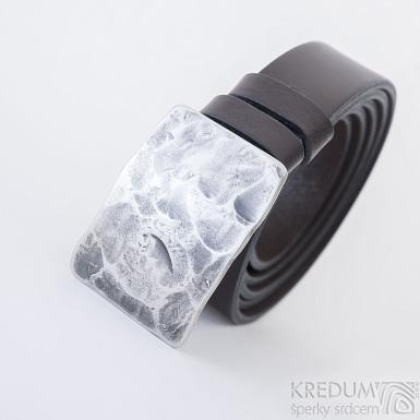 Opasek Mistr 3X - Plate s hnědým koženým páskem, SK2491 (3)