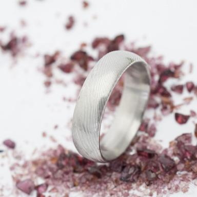 Prima - dřevo - Snubní prsten damasteel, SK2765