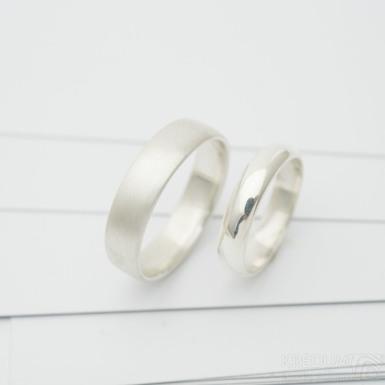 Prima silver - matný - stříbrný snubní prsten