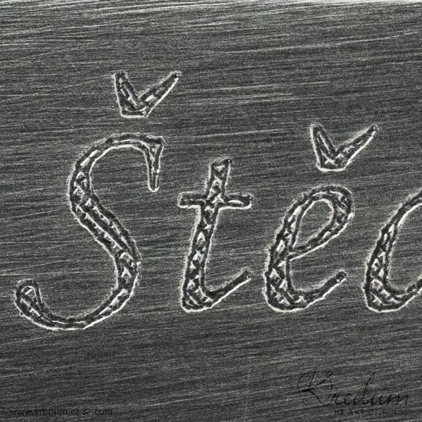Šrafované - Rytí nápisů do šperků řízeno počítačem