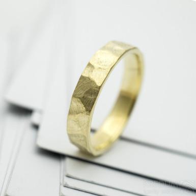 RAW gold yellow - zlatý snubní prsten
