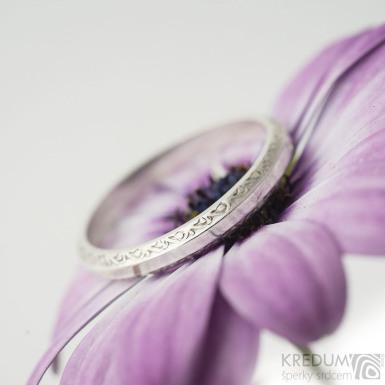 Retro snubní prsten 2 Vlnky stříbro