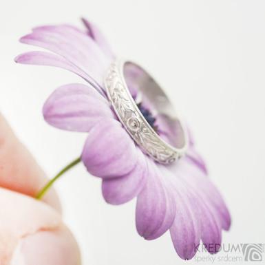 Retro snubní prsten 4 Růže stříbro
