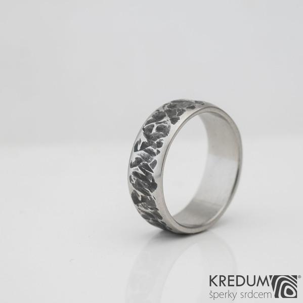 Kovaný nerezový snubní prsten - Archeos, vel. 53, S 979