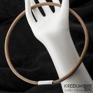 Kožený náhrdelník - Samuel hnědý - lesklý