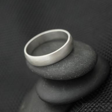 Prima silver - matný - stříbrný snubní prsten SK3240