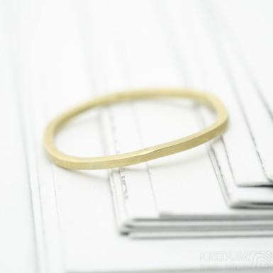 Plain gold yellow - zlatý snubní prsten - SK3394