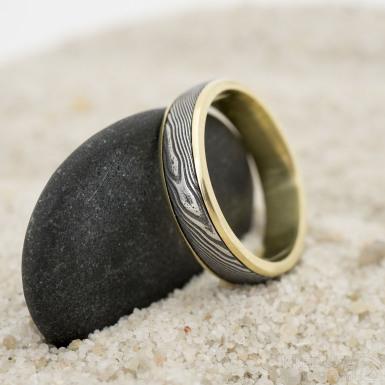 Snubní prsten Kasiopea yellow - dřevo - 60/5/1,8 mm - SK3212