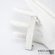 Linka draill lesklá - základ 5 cm, šíře 9 mm - Nerezová spona do vlasů