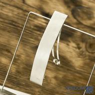 Hladká Linka matná - základ 10 cm, šíře 2 cm - Nerezová spona do vlasů