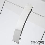Linka klasik lesklá - základ 8 cm, šíře 2 cm - Nerezová spona do vlasů