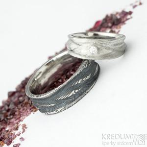 prsteny Pán vod a Víla vod s diamantem